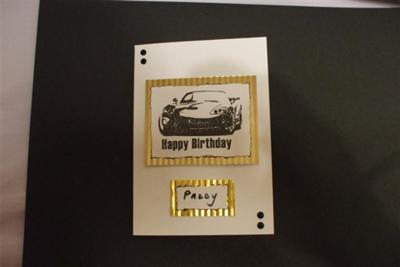 Husbands Birthday Card.