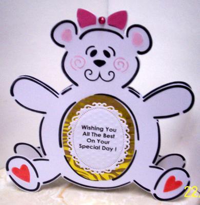 Stenciled Teddy Card