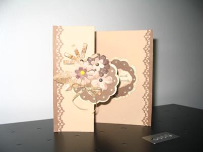 Study In Browns Tri Fold Card
