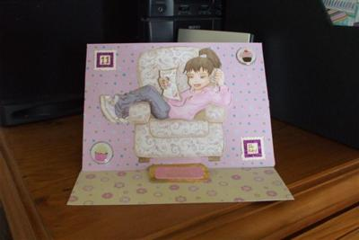Girlie Easel Card