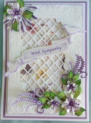 Sympathy card Outside