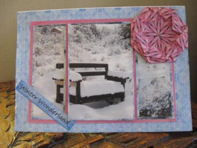 Winter teabag card