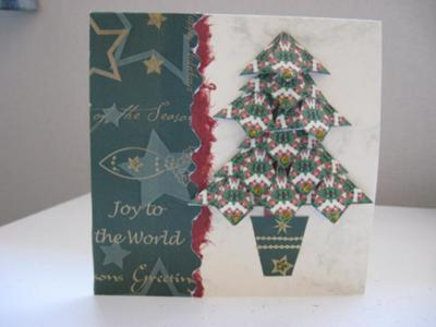 Teabag Folding Christmas Card