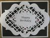 Black and White Male Birthday Card