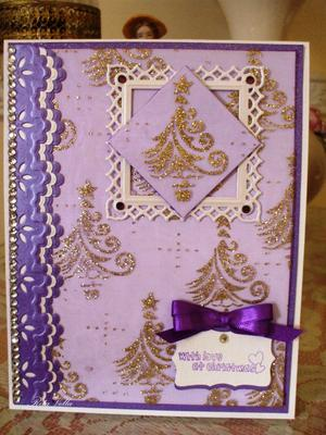 Voile Christmas Card
