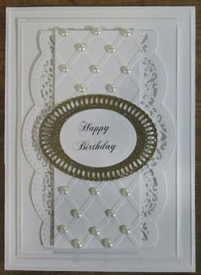 White On 96 Year Birthday Card