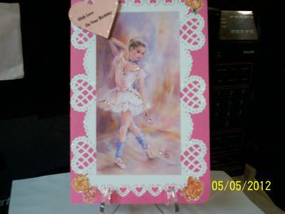 Ballerina Birthday Card