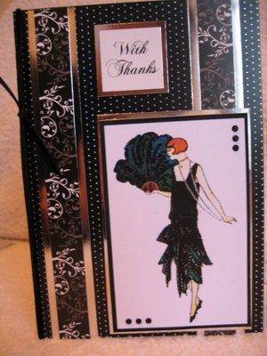 Art Deco Little Black Dress