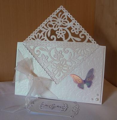 Wedding Butterfly Corner Card Front