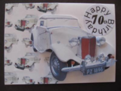Vintage car decoupage