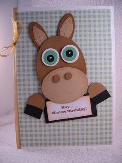 Novelty Horse Card