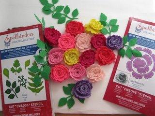 Felt flowers with Spellbinders