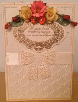Flowers and Bow Card
