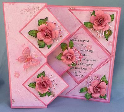 Fold Back Pop Up Card Open