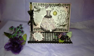 Goth easel card