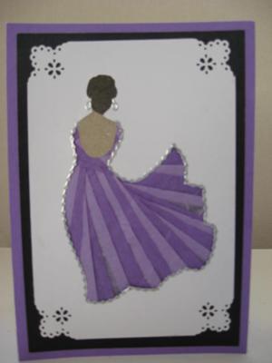 Lavender Lassie Iris folding