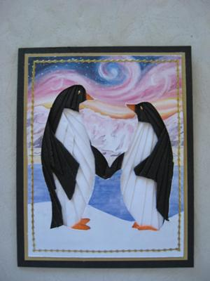 Penguins In Love Iris folding
