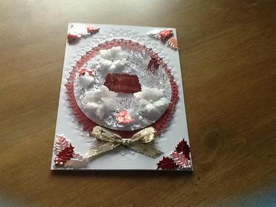 Parchment Christmas card