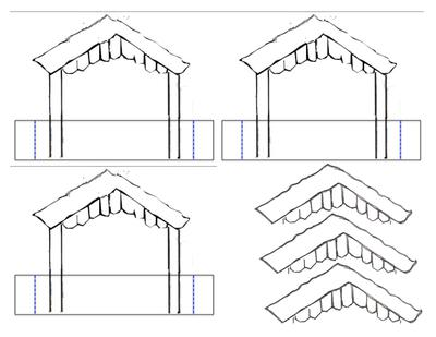 Stable and Roof pieces