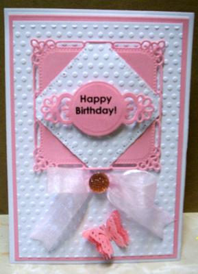Plain But Pretty Hinged Birthday Card