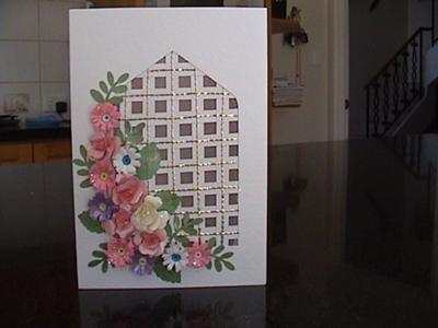 Punched Rose & Quilled Daisy Card