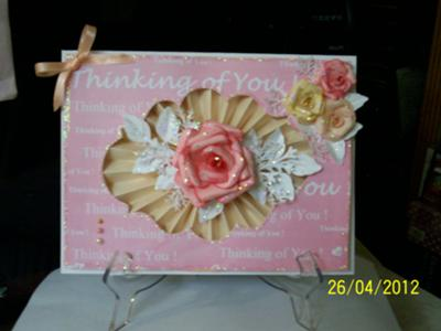The Pink Collection Pleated Card
