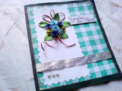 The Green Gingham Card