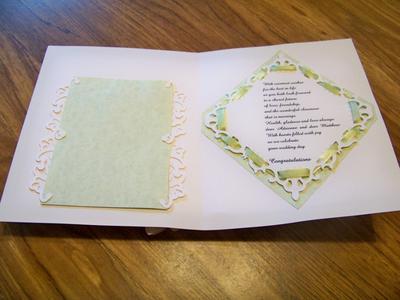 wedding card inside